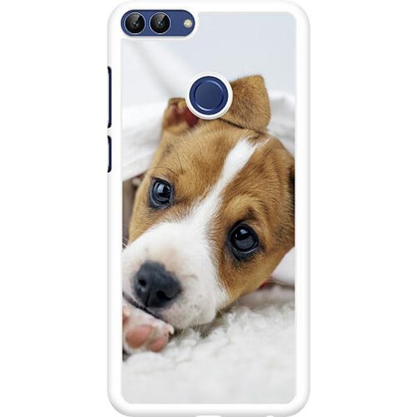 Huawei P Smart (2018) Hard Case (Vit) Cute Puppy