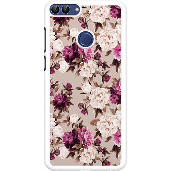 Huawei P Smart (2018) Hard Case (Vit) Blommor