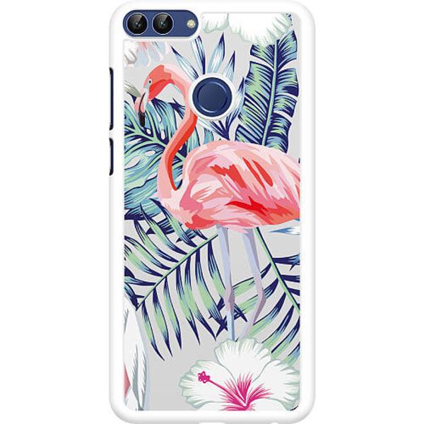 Huawei P Smart (2018) Hard Case (Vit) Flamingo