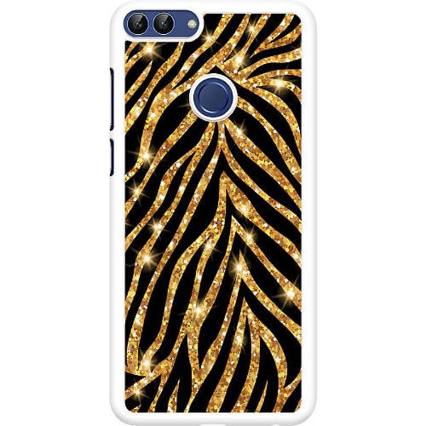 Huawei P Smart (2018) Hard Case (Vit) Gold & Glitter
