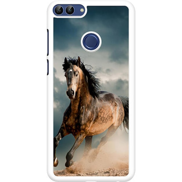 Huawei P Smart (2018) Hard Case (Vit) Häst