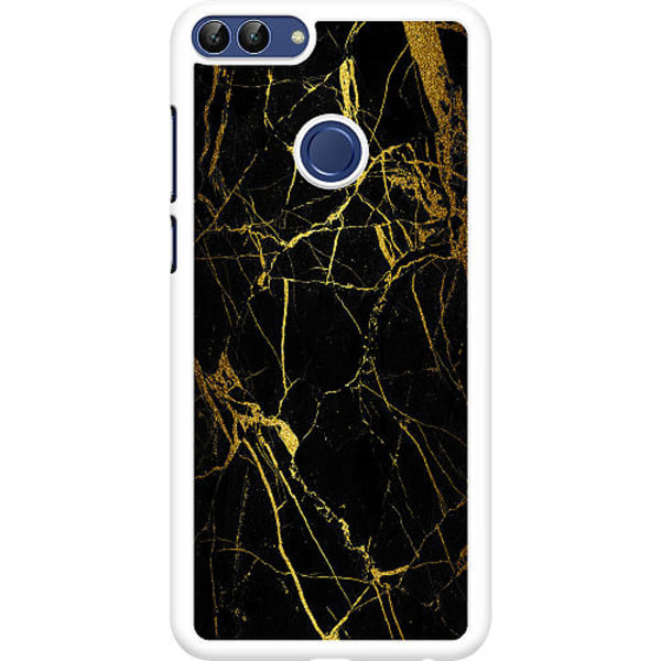 Huawei P Smart (2018) Hard Case (Vit) Marble Black&Gold