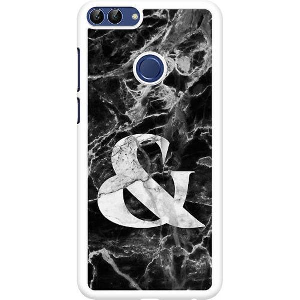 Huawei P Smart (2018) Hard Case (Vit) Marmor & Svart
