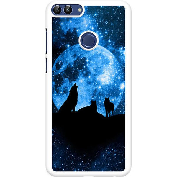 Huawei P Smart (2018) Hard Case (Vit) Moon Wolves