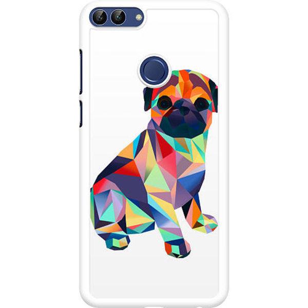 Huawei P Smart (2018) Hard Case (Vit) Pug