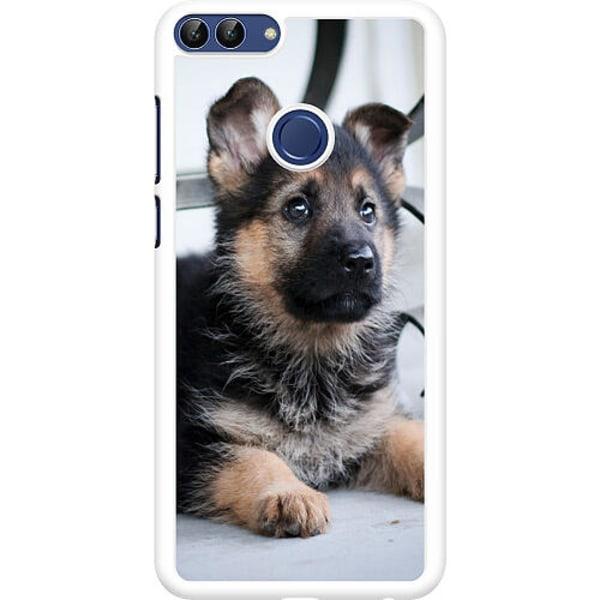 Huawei P Smart (2018) Hard Case (Vit) Schäfer Puppy