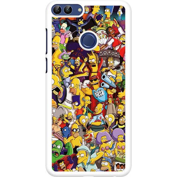 Huawei P Smart (2018) Hard Case (Vit) Simpsons