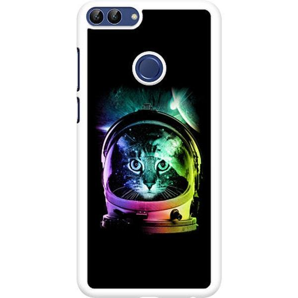 Huawei P Smart (2018) Hard Case (Vit) Space Cat