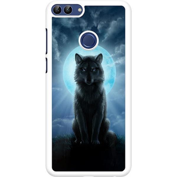 Huawei P Smart (2018) Hard Case (Vit) Wolf in the Dark