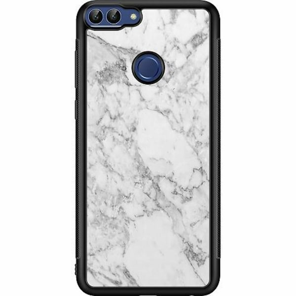 Huawei P Smart (2018) Soft Case (Svart) Marmor
