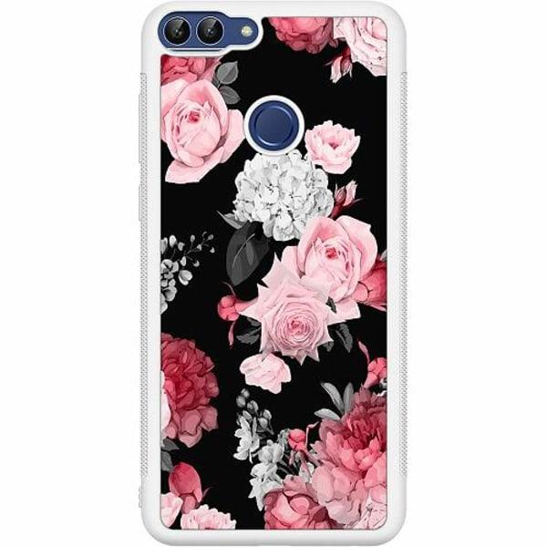 Huawei P Smart (2018) Soft Case (Vit) Blommor