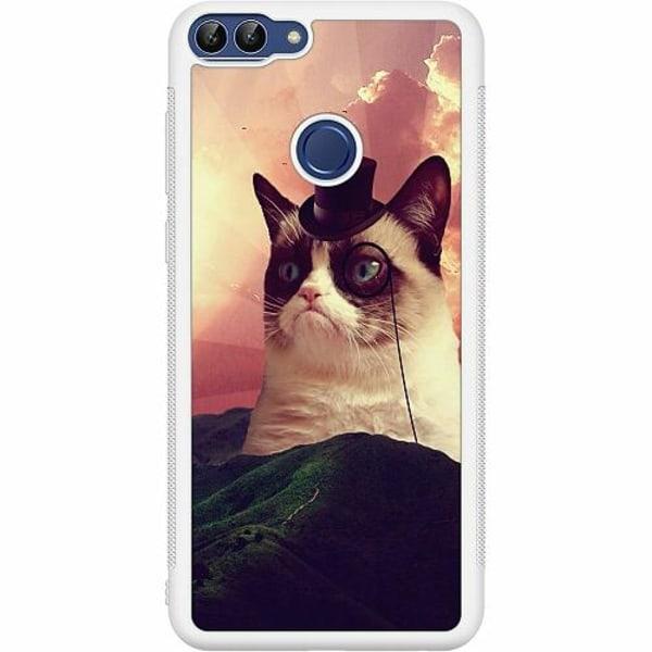 Huawei P Smart (2018) Soft Case (Vit) Cat Af Grund