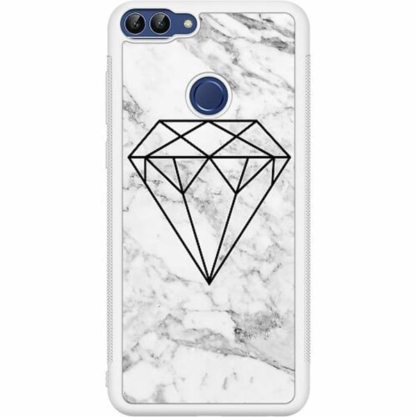 Huawei P Smart (2018) Soft Case (Vit) Diamant