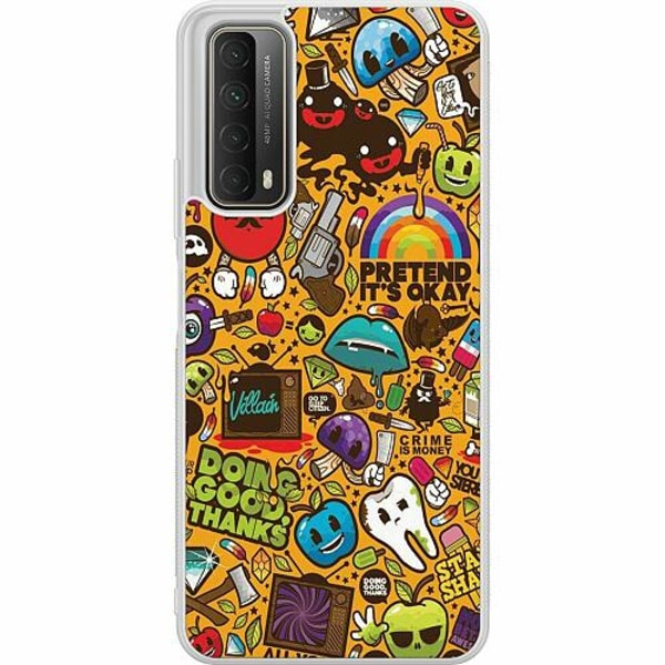 Huawei P Smart (2021) Soft Case (Frostad) Stickers
