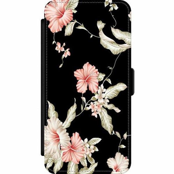 Samsung Galaxy S20 Ultra Wallet Slim Case Floral Pattern Black