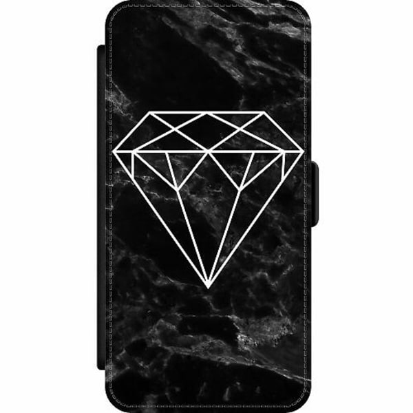 Apple iPhone 12 Pro Wallet Slim Case Marmor Diamant