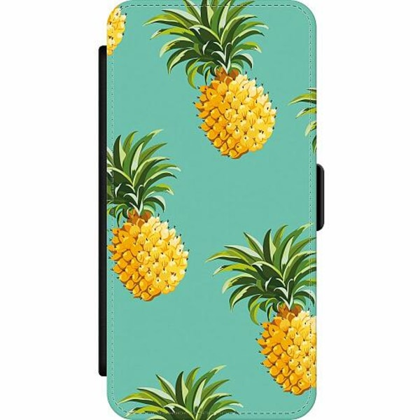 Apple iPhone 12 Pro Wallet Slim Case Pineapples Teal
