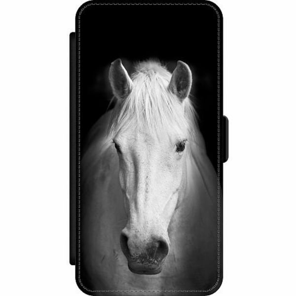 Apple iPhone 12 Pro Wallet Slim Case Vit Häst