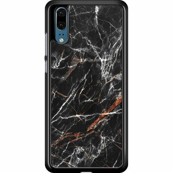 Huawei P20 Hard Case (Black) BL4CK MARBLE