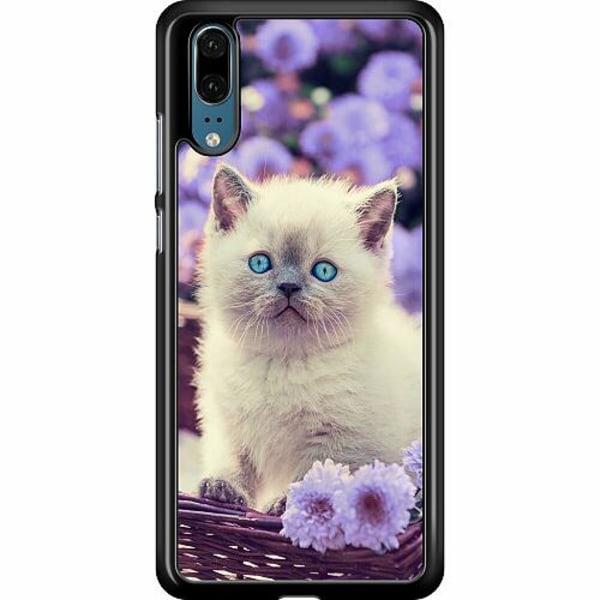 Huawei P20 Hard Case (Black) Cute Kitten