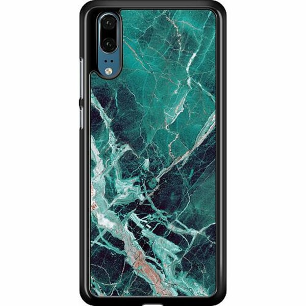 Huawei P20 Hard Case (Black) Marmor