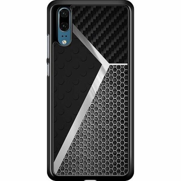 Huawei P20 Hard Case (Black) Metallic Pattern