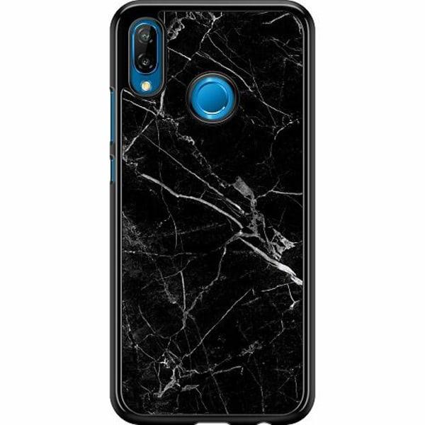Huawei P20 Lite Hard Case (Svart) Marmor