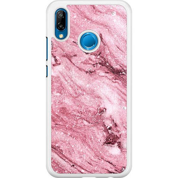 Huawei P20 Lite Hard Case (Vit) Glitter Marble