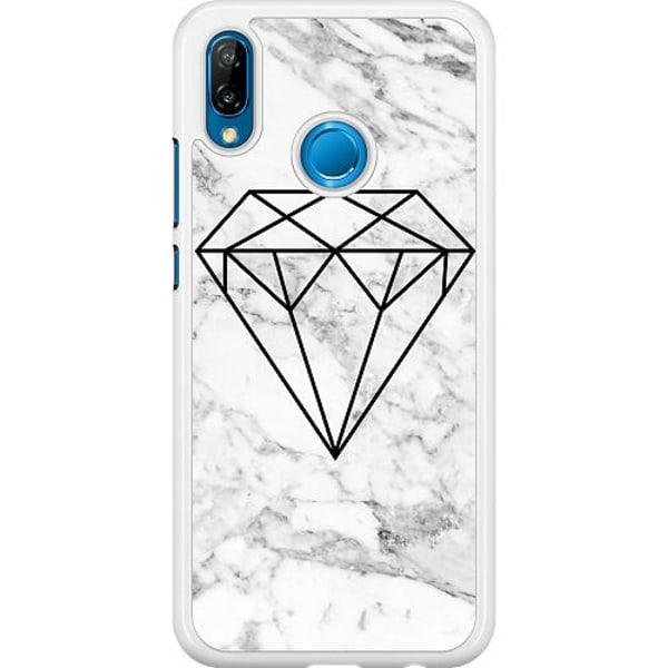 Huawei P20 Lite Hard Case (Vit) Diamant