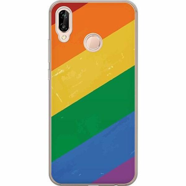 Huawei P20 Lite TPU Mobilskal Love is Love - Pride