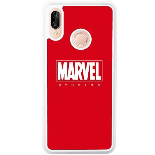 Huawei P20 Lite Soft Case (Vit) Marvel