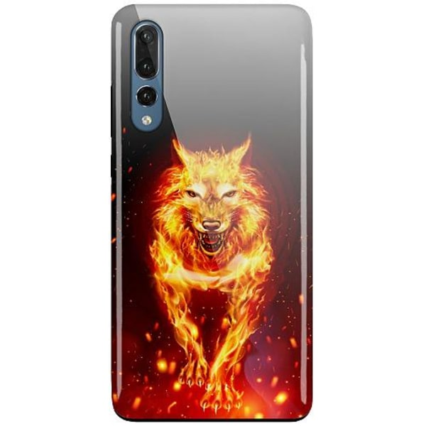Huawei P20 Pro LUX Duo Case (Glansig)  Fire Wolf