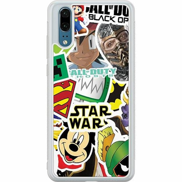 Huawei P20 Soft Case (Frostad) Stickers