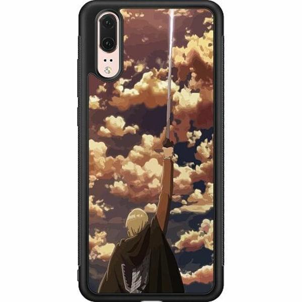 Huawei P20 Soft Case (Svart) Attack On Titan