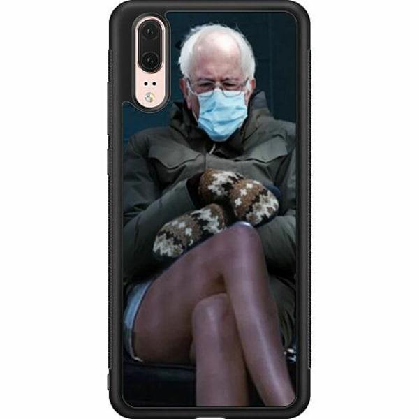Huawei P20 Soft Case (Svart) Bernie Sanders Meme