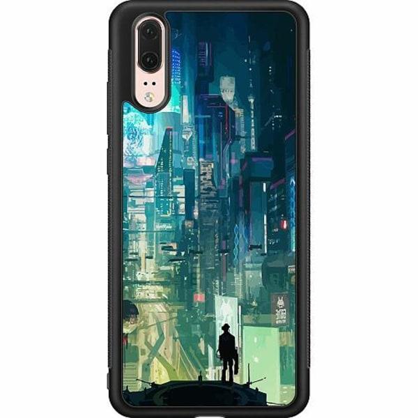 Huawei P20 Soft Case (Svart) Cyberpunk 2077