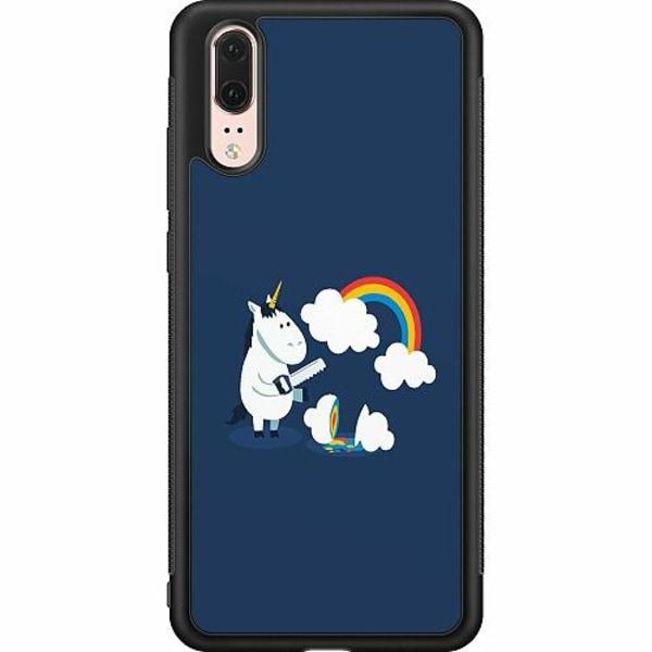 Huawei P20 Soft Case (Svart) UNICORN