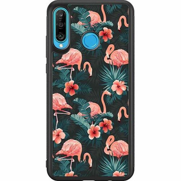 Huawei P30 Lite Soft Case (Svart) Flamingo