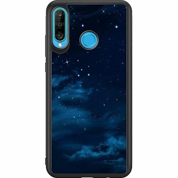 Huawei P30 Lite Soft Case (Svart) Himmel