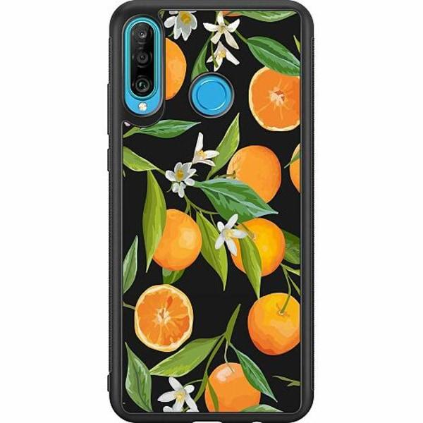 Huawei P30 Lite Soft Case (Svart) Orange Juice