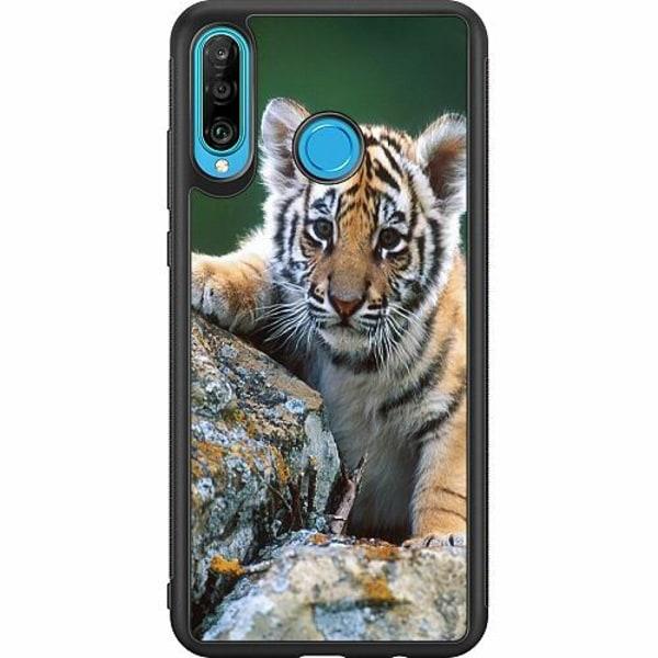 Huawei P30 Lite Soft Case (Svart) Tiger
