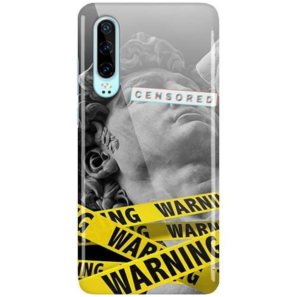 Huawei P30 LUX Mobilskal (Glansig) Censored Warning