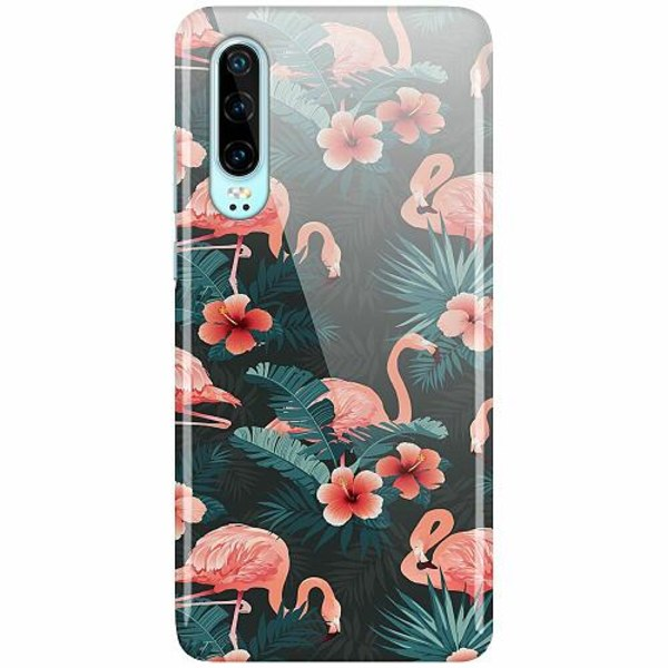 Huawei P30 LUX Mobilskal (Glansig) Flamingo Fever