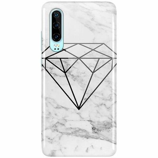 Huawei P30 LUX Mobilskal (Glansig) Marmor Diamant