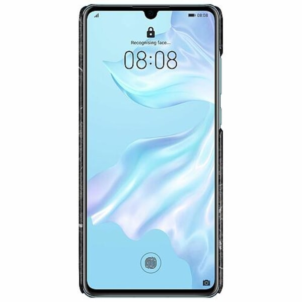 Huawei P30 LUX Mobilskal (Glansig) Marmor Svart