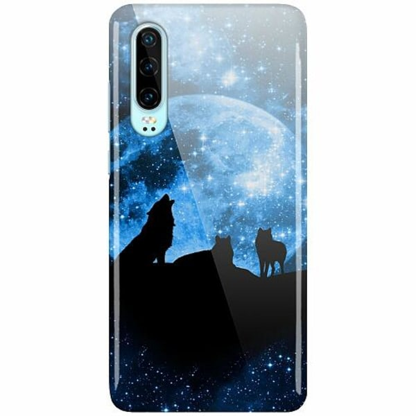 Huawei P30 LUX Mobilskal (Glansig) Moon Wolves
