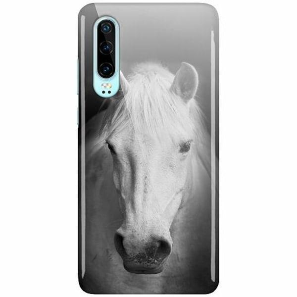 Huawei P30 LUX Mobilskal (Glansig) Vit Häst