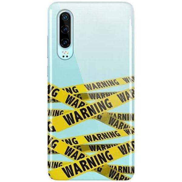 Huawei P30 LUX Mobilskal (Glansig) Warning