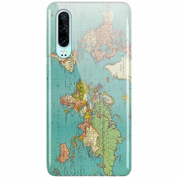 Huawei P30 LUX Mobilskal (Glansig) World Map