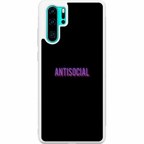 Huawei P30 Pro Soft Case (Vit) Antisocial
